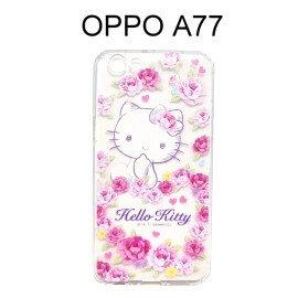 HelloKitty空壓氣墊軟殼[玫瑰]OPPOA77(5.5吋)【三麗鷗正版授權】
