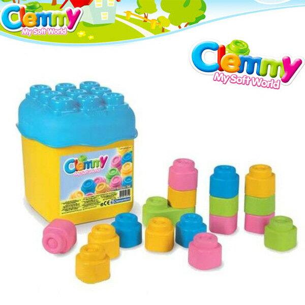 Clemmy軟質積木~ 20PCS粉色桶裝