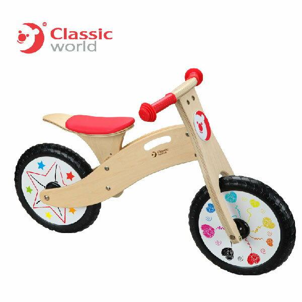 classic world 德國經典木玩 客來喜 彩繪滑步車