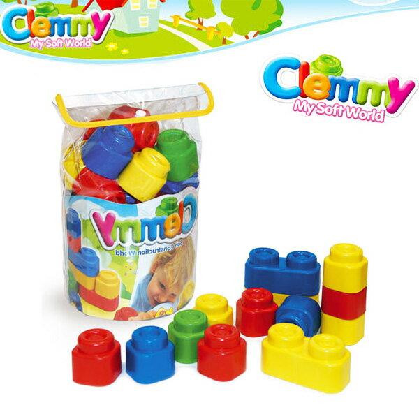 Clemmy軟質積木- 24PCS正色袋裝積木