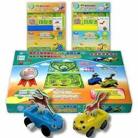 【孩子國】Bobea 跑車王哈利-DIY磁貼軌道車遊戲組