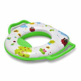 【孩子國】兒童馬桶扶手輔助便座-小青蛙