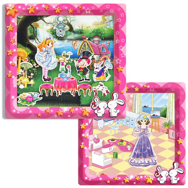 【Bobea】愛麗絲手動畫+貝貝換裝遊戲( 磁鐵書 )
