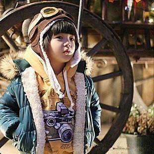 =優生活=『超人氣~飛行帽』韓國兒童飛行帽 空軍帽 保暖帽 護耳帽 兒童帽子 兩色