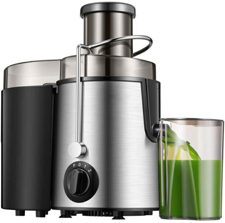 110V榨汁機不鏽鋼家用榨汁機果汁機榨汁分離家庭必備 摩可美家