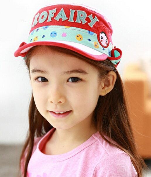 Kofairy可飛兒◆字母宇宙星球兒童護頸防曬遮陽棒球帽盆帽-粉色