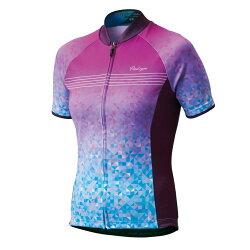 【7號公園自行車】PEARL IZUMI W621-B-19 基本款女性短袖公路車衣(藍粉) 吸濕快排 抗紫外線UV