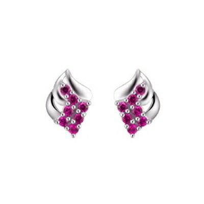 925純銀耳環鑲鑽耳飾~ 名媛氣質生日情人節 女飾品2色73dz50~ ~~米蘭 ~