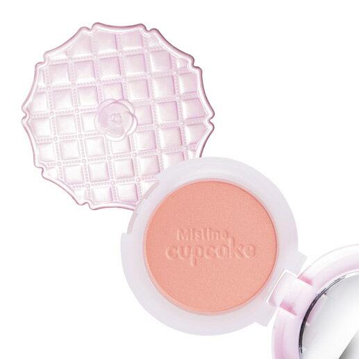 泰國正品》 Mistine CUP CAKE BLUSHER 杯子蛋糕粉嫩腮紅盤-02粉橘(共2色)