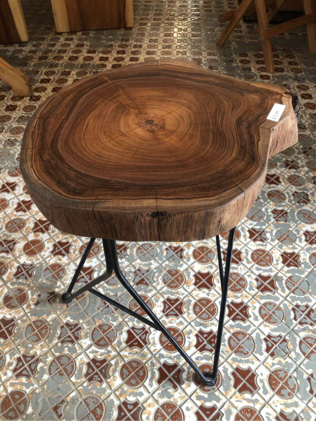 老柚木鐵腳小椅子/矮椅 (L36 W34 H47 cm)