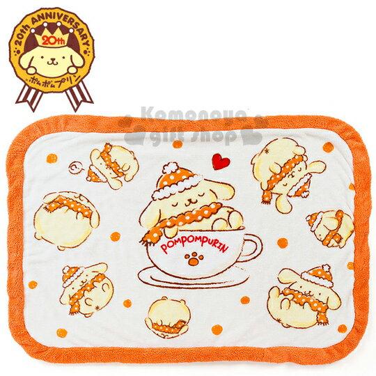 〔小禮堂〕布丁狗 圓角毛毯《橘.咖啡杯.閉眼》20週年紀念系列