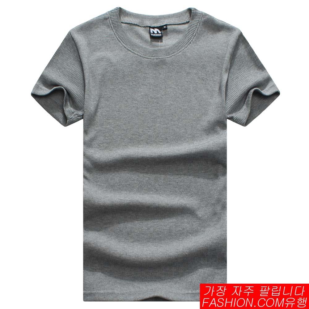 DITION SHOP 潮牌時尚素面圓領短T 合身彈性(螺紋款) 2