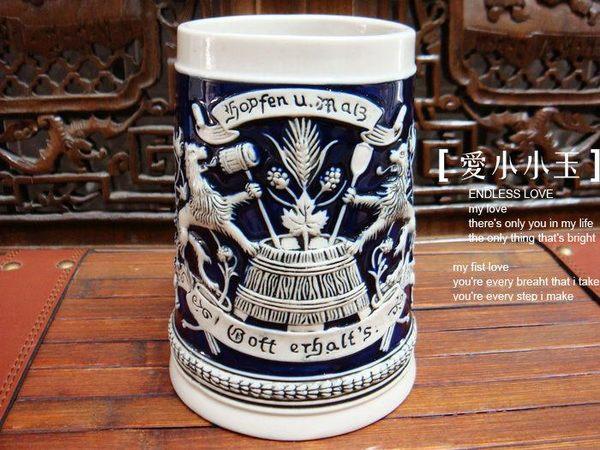 節日圖騰-陶瓷德國啤酒杯