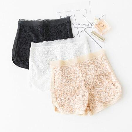 蕾絲安全褲 內搭小短褲 防走光 打底褲 裙子 蕾絲花邊 內搭 短褲~B062860~