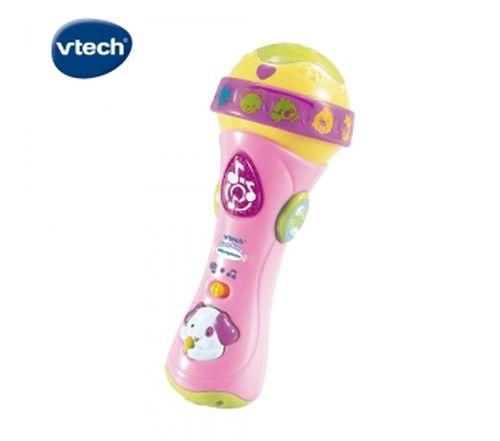 Vtech歡唱學習麥克風-粉★衛立兒生活館★