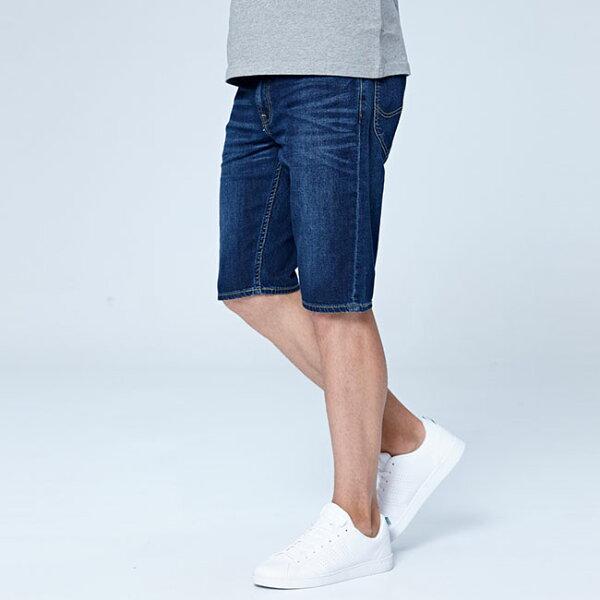 Lee牛仔短褲-水洗藍