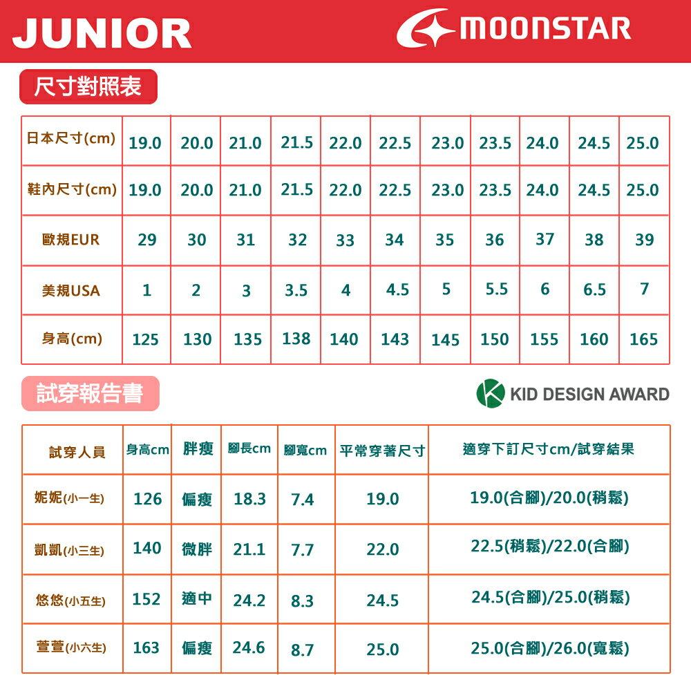 日本Moonstar機能童鞋 防水系列運動鞋 9295深藍(中大童段) 8