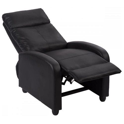 Fabulous Black Arm Chair Bonded Leather Single Recliner Chair Sofa Accent Chair 87 Pdpeps Interior Chair Design Pdpepsorg