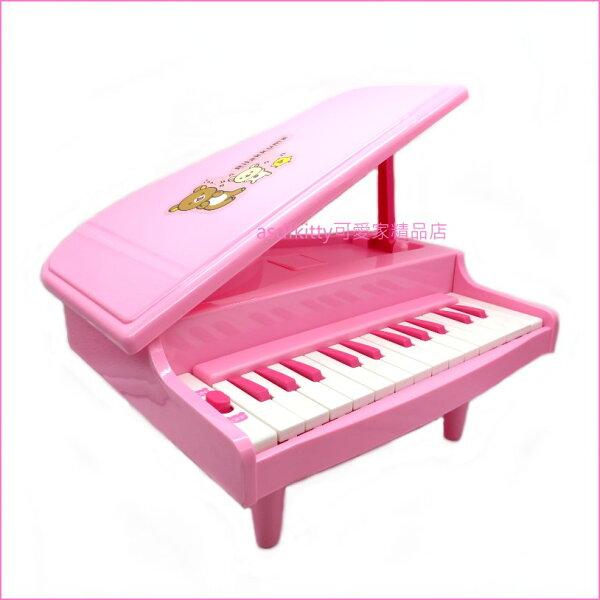 asdfkitty可愛家☆日本san-x拉拉熊鋼琴玩具-粉紅色-日本正版商品