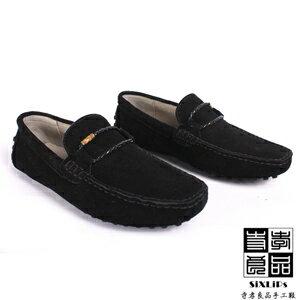 寺孝良品 義式雅痞編織麂皮豆豆鞋 黑 3