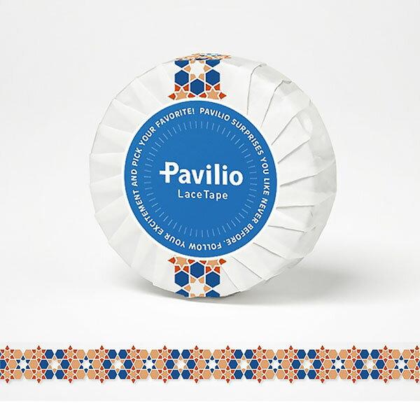 【日本Pavilio】風格膠帶Standard系列F-ST04AO桔阿拉伯花紋捲