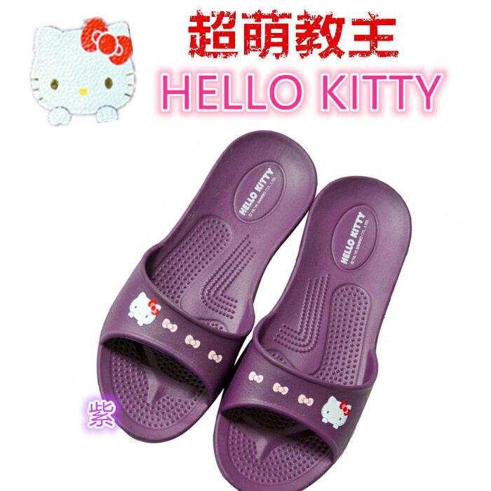 紫色HELLO KITTY拖鞋尺寸36.38.40 台灣製造超輕防水防滑拖鞋室內外拖鞋 浴室拖鞋