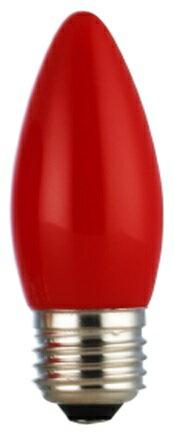 ★凌尚★蠟燭型霧面LED蠟燭燈燈泡E27燈頭★紅色★ 台灣製