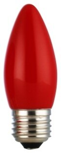 凌尚照明:★凌尚★蠟燭型霧面LED蠟燭燈燈泡E27燈頭★紅色★台灣製