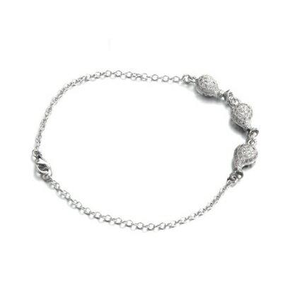 925純銀手鍊 鑲鑽手環 ~ 高檔氣質迷人情人節生日 女飾品2色73dl42~ ~~米蘭