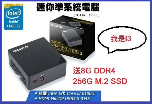【 儲存家3C 】技嘉GB-BSI3HA-6100 迷你電腦*送8G+256M.2 SSD*