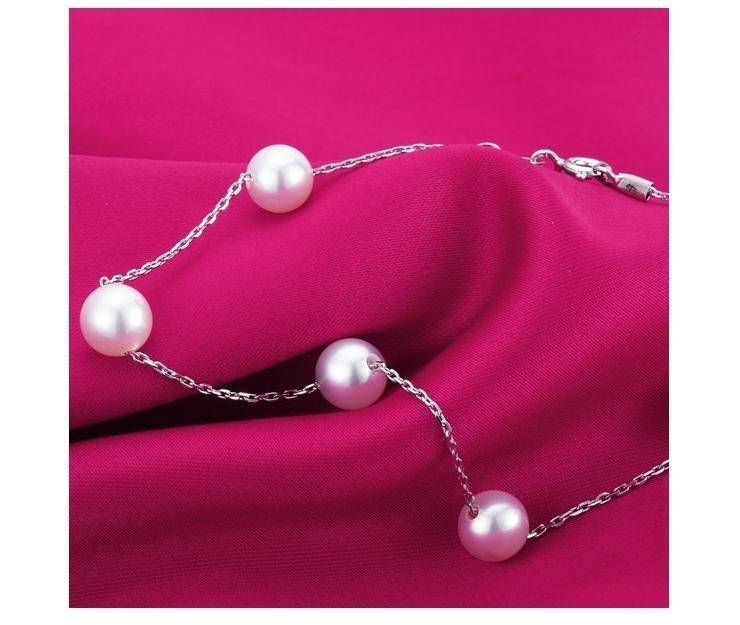 銀淡水珍珠手鏈 女款時尚百搭
