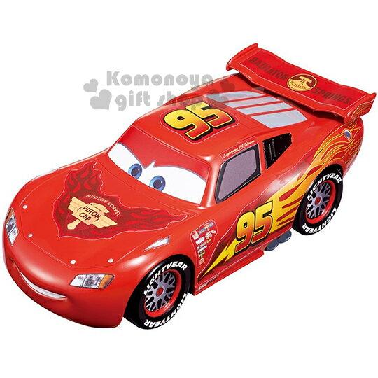 〔小禮堂嬰幼館〕迪士尼 Cars閃電麥坤 TOMICA造型小汽車收納盒《大.紅.車型.盒裝》適合0~3歲兒童