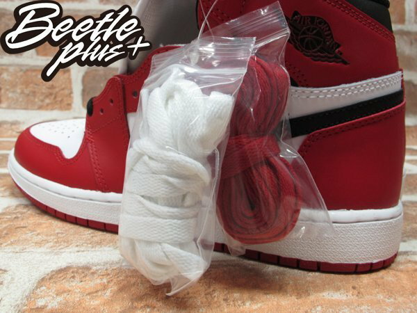 BEETLE PLUS NIKE AIR JORDAN 1 RETRO HIGH OG BG CHICAGO 芝加哥 喬丹 公牛 皮朋 白黑紅 女鞋 575441-101 3