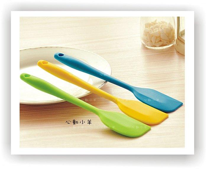 心動小羊^^(L大號)矽膠耐高溫彩色一體成形刮刀烘焙工具(超好用橡皮矽膠刮刀),烘焙、手工皂專用