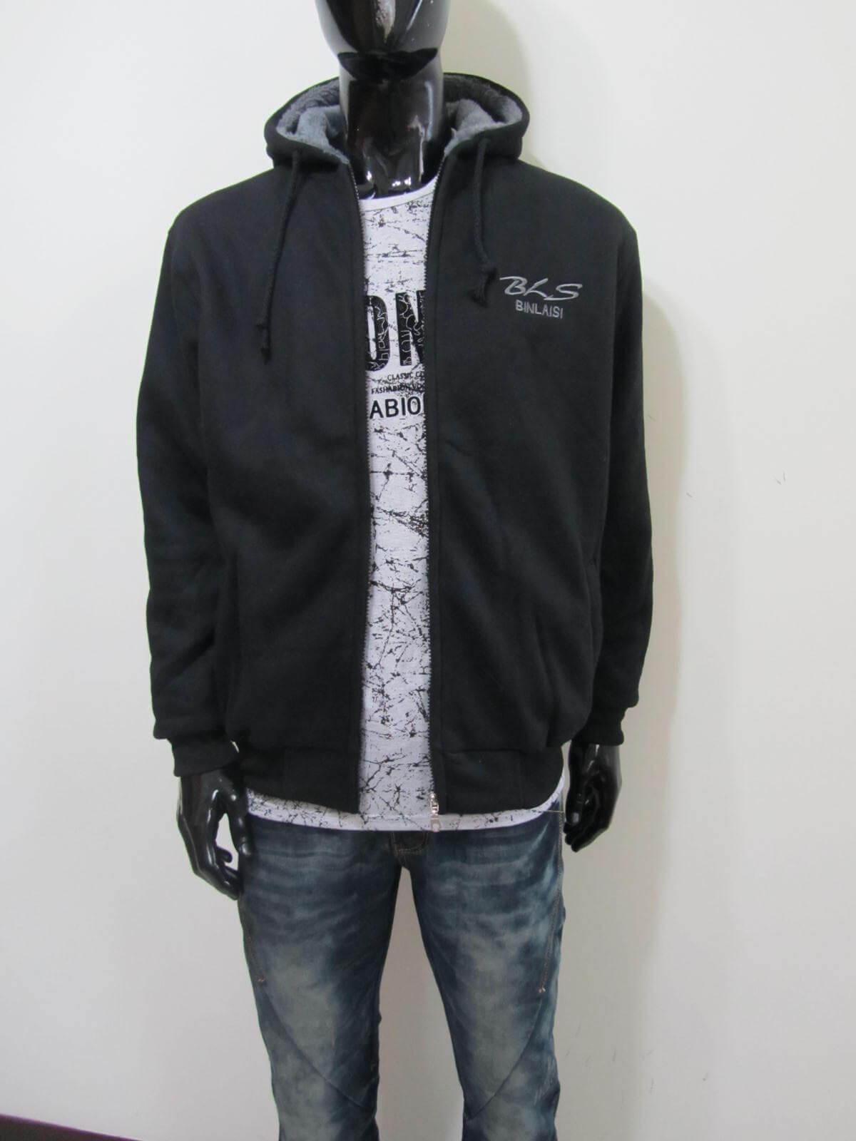 厚刷毛外套 保暖外套 連帽外套 夾克外套 休閒外套 黑色外套 Fleece Jackets Warm Jackets Casual Jackets Men's Jackets (312-2801-21)黑色 單一尺寸 F 胸圍46英吋 (117公分) 男 [實體店面保障]sun-e 1