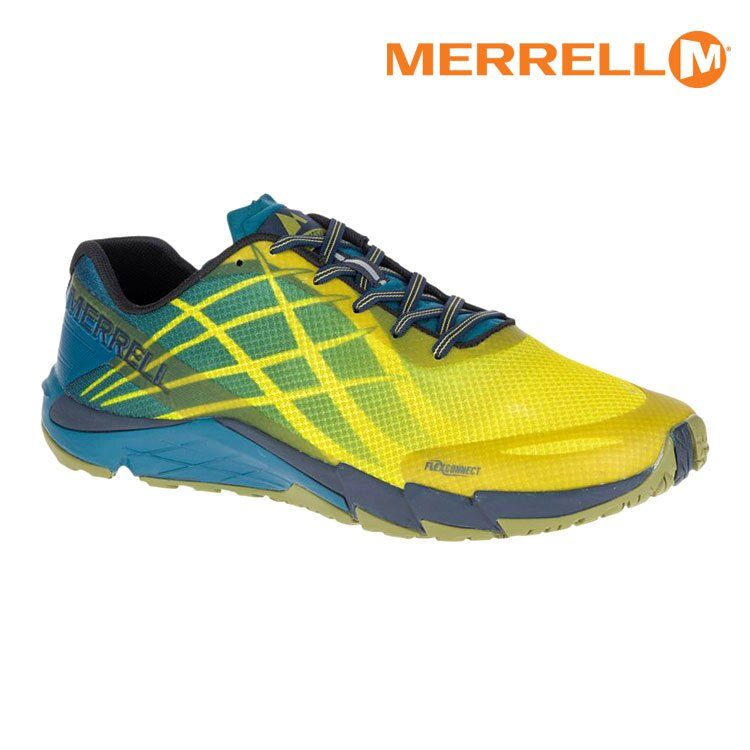 MERRELL 男 BARE ACCESS FLEX ML09665輕量赤足跑鞋 / 城市綠洲 (防臭抗菌、黃金大底、越野、透氣、避震)