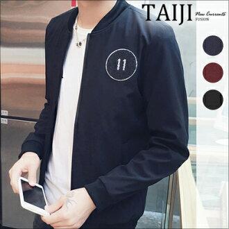 休閒夾克‧11貼章素色立領休閒夾克外套‧三色‧加大尺碼【NTJBXYK99】-TAIJI