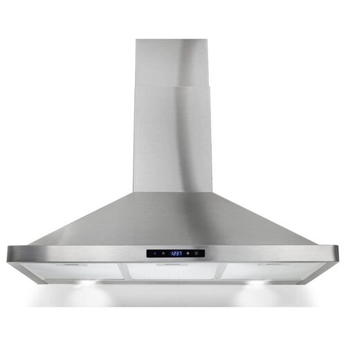 "AKDY 36"" Stainless Steel Wall Range Hood Carbon filter included for ventless/ductless options 0"