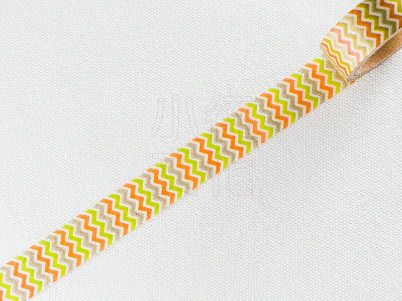 *小徑文化*日本進口和紙膠帶 Word carft系列 - 鋸齒紋 ( W02-MK-T0024 )