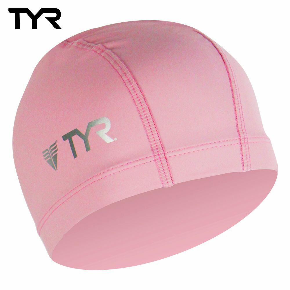美國TYR 成人用萊卡彈性防水泳帽 Lycra PU Coating Swim Cap Pink 台灣總代理 - 限時優惠好康折扣