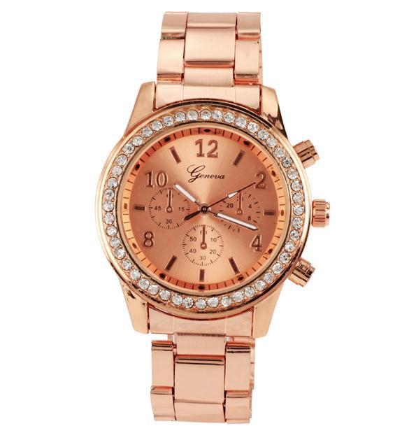 Unisex Stainless Steel Analog Quartz Wrist Watch 1