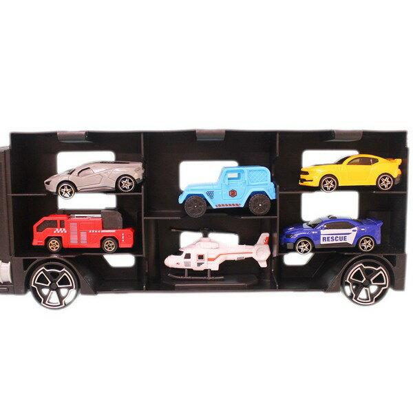 賽車貨櫃車 6款合金車 P867-A/一盒入(促350) 火柴盒小汽車 模型車收納盒-CF139582