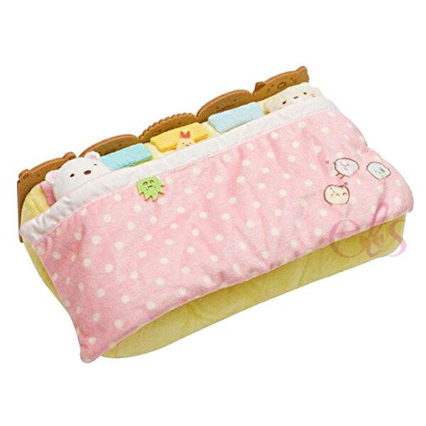 日本SAN-X角落生物棉被床鋪造型面紙盒面紙套☆艾莉莎ELS☆