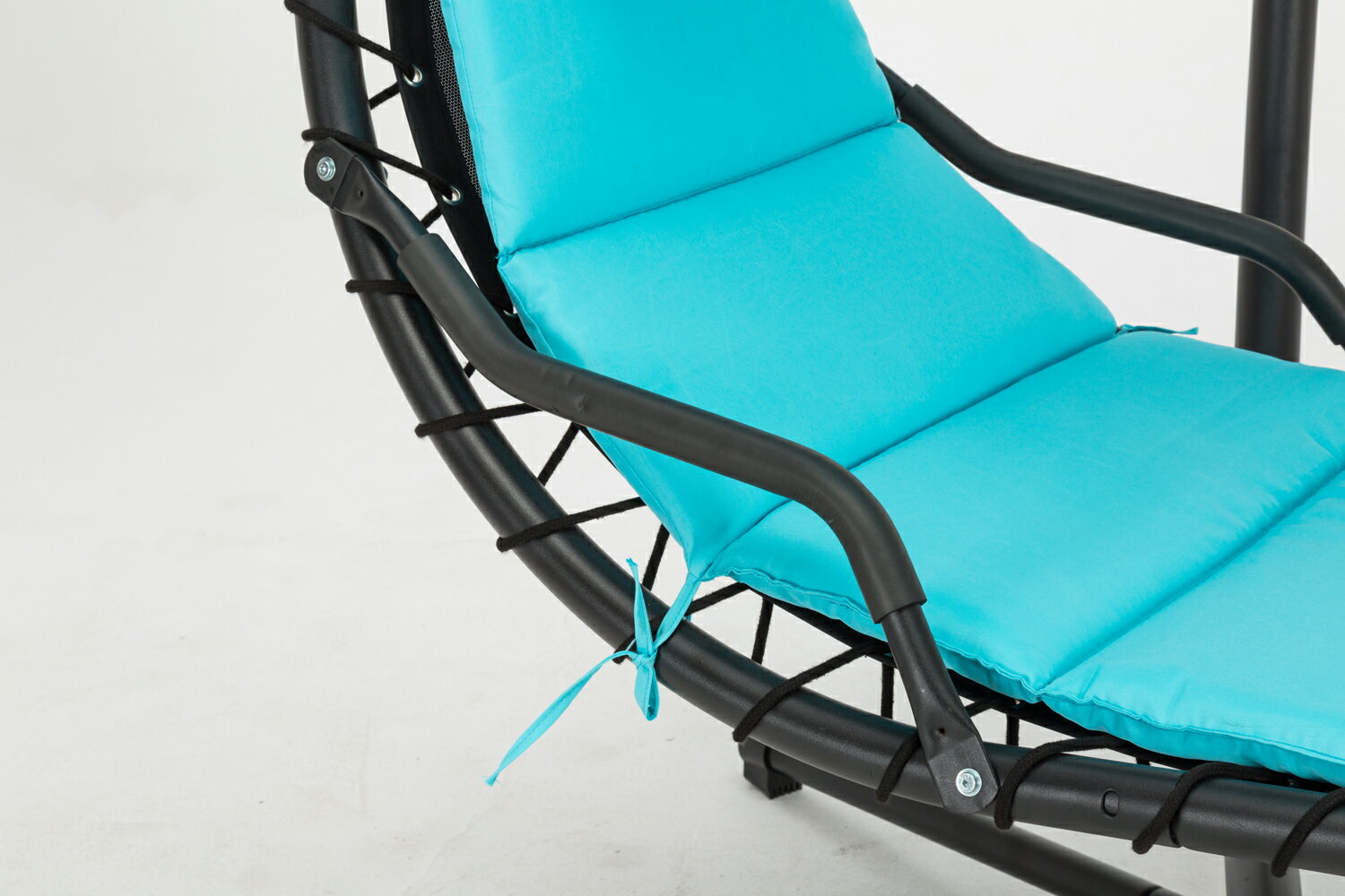 Mcombo Hanging Chaise Lounger Swing Hammock Chair with Canopy - Teal 1000 3