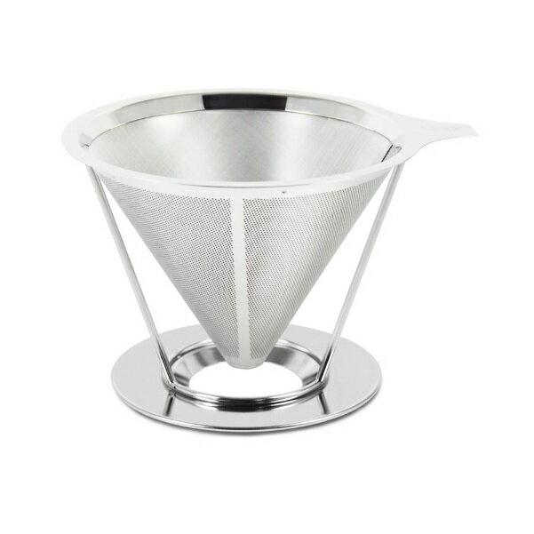 Driver不鏽鋼環保濾杯濾網2~4cup+專用承架雙層極細濾網免用咖啡濾紙-大廚師百貨