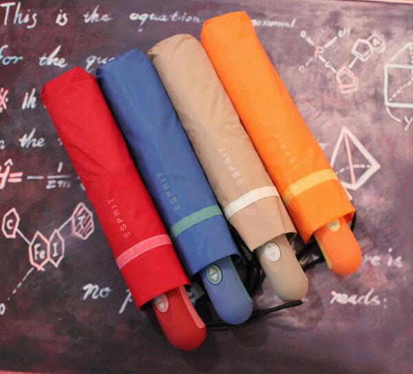 素色自動太陽傘遮陽傘防紫外線晴雨傘兩用傘