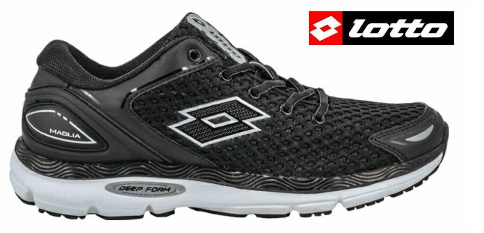 【巷子屋】義大利第一品牌-LOTTO 男款MAGLIA趾骨概念避震慢跑鞋 [3510] 黑 超值價$690