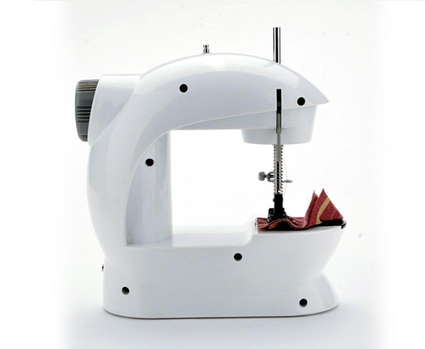 Portable Mini Handheld Electric Sew 2-Speed Sewing Machine Battery/Mains Powered  Bobbins 2