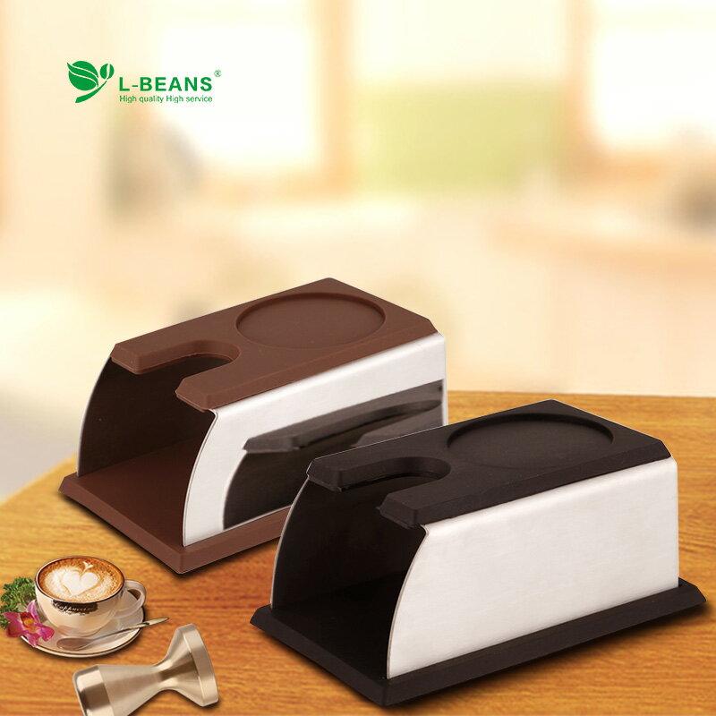 不銹鋼壓粉座 手柄填壓支撐座 壓粉架壓粉器咖啡壓粉座 ♠極有家♠