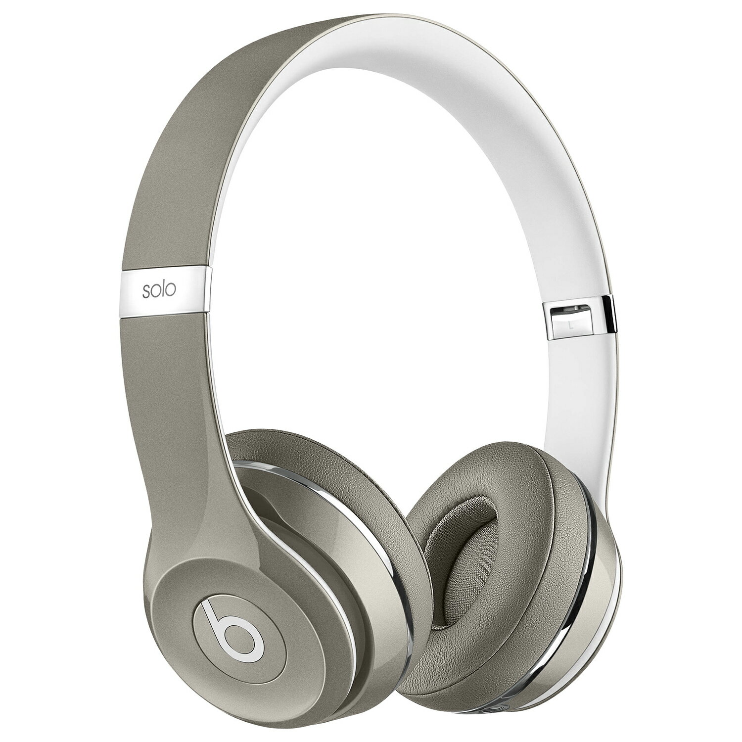Beats by Dr. Dre Solo2 Luxe Edition On-Ear Foldable Stereo Headphones - Silver 0